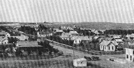 Litchfield, Nebraska, , looking northeast, circa 1910. (University of Nebraska archives)