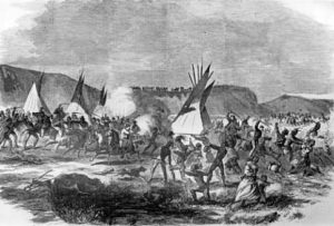 The battle of White Stone Hill, photo from National Archives.